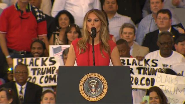 First Lady Says She Has Big Plans at Fla. Rally