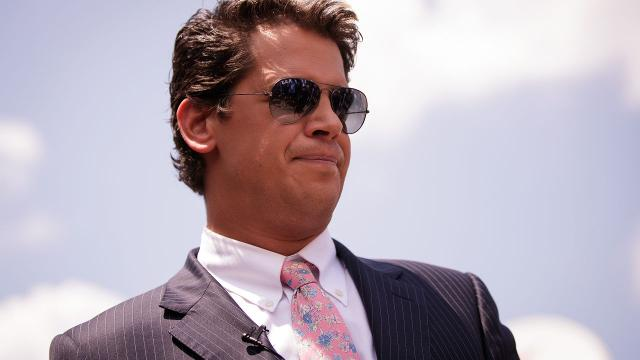 In this Jan. 25, 2017, file photo, Milo Yiannopoulos