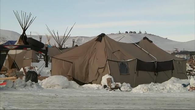 Standing rock camp tense after pipeline resumes