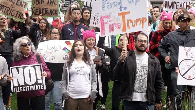 The 'Not my President' rally in Los Angeles