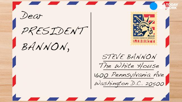 Trump critics are writing postcards to 'President' Bannon