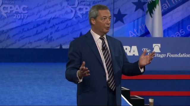 Former UK Independence Party leader Nigel Farage says 2016 was the beginning of a 'global political revolution' with the Brexit Vote and election of Donald Trump. His comments came Friday at the Conservative Political Action Conference . (Feb. 24)