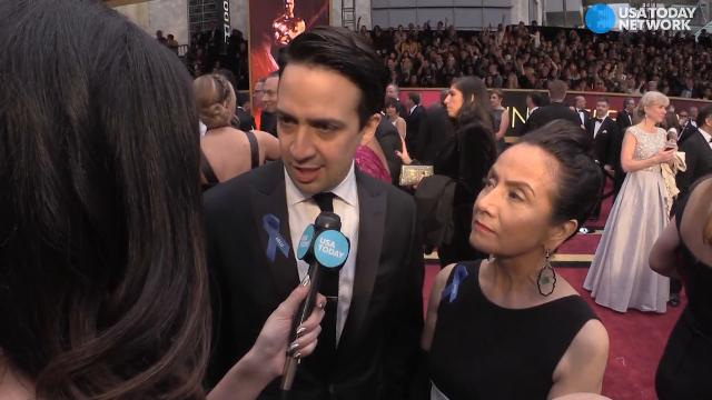 Lin-Manuel Miranda, 'Hamilton' star and composer of an Oscar-nominated song from 'Moana' talks about why he is showing support for the ACLU at the Oscars.