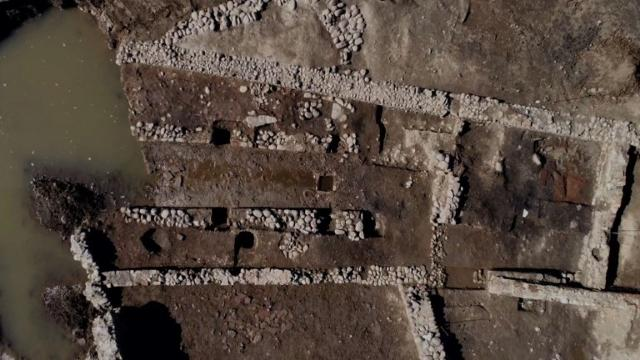 French archaeologists have uncovered a sanctuary dedicated to the god Mithra at the Roman site of Mariana on the French island of Corsica, according to the National Institute of Preventive Archaeological Research. Video provided by AFP