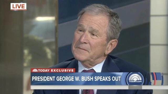 """Former President George W. Bush voices his opinion on the importance of a free press, this comes after Donald Trump's past remarks that the """"press is the enemy."""""""