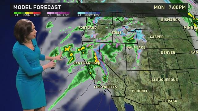 Atmospheric rivers bring moisture from the tropics.