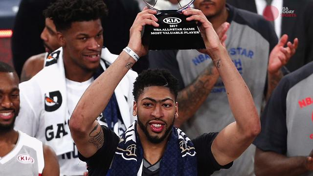 Anthony Davis highlighted a high scoring All-Star game by totaling a record 52 points en route to MVP honors.