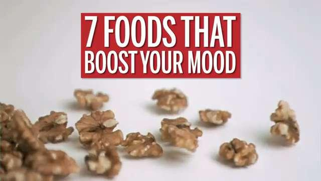 Feeling down? Try eating some of these foods, which are loaded with nutrients that may help you feel happier. Watch this video for the full list of seven foods that may help improve your mood.