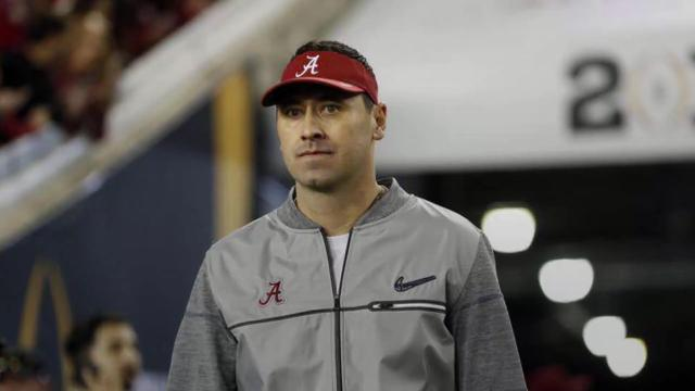 Atlanta has hired Alabama offensive coordinator Steve Sarkisian to replace Kyle Shanahan, who left for the 49ers.