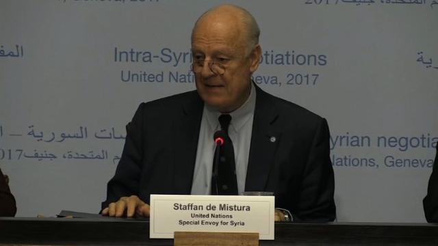 The ceasefire is holding 'by and large' says United Nations Special Envoy for Syria, Staffan de Mistura, on the eve of peace talks in Geneva.