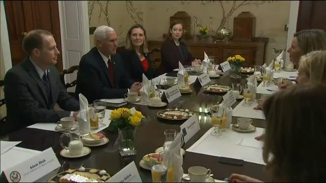 Raw: V.P. Pence Meets With E.U. Leaders