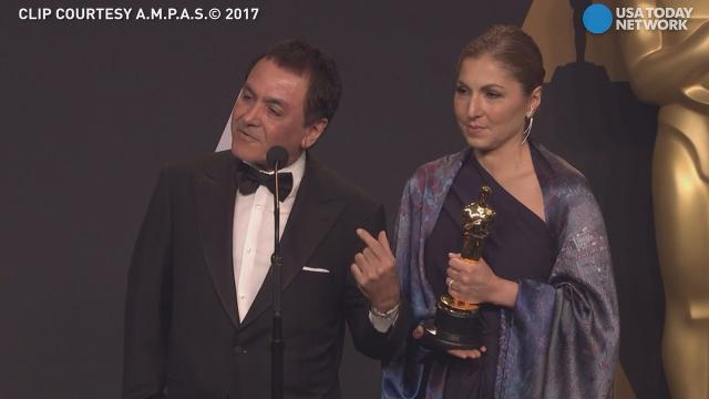 Representatives who accepted an Oscar for Best Foreign Language Film on behalf of Asghar Farhadi were chosen by the director for a very specific reason.