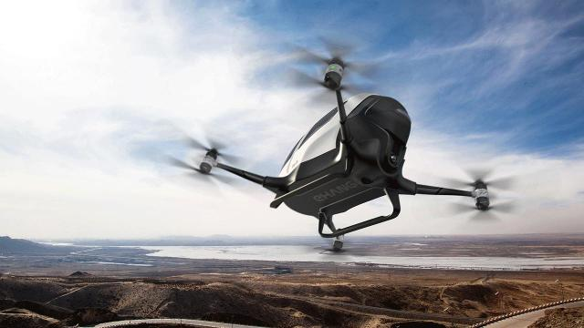 With driverless passenger drones.