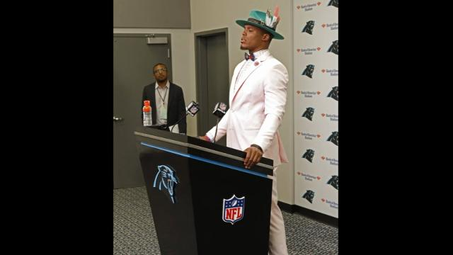 Cam Newton can appreciate memes about his style