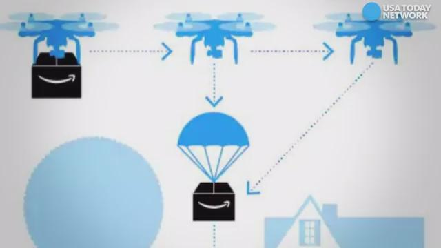 Amazon might be seeking to evolve their air drop deliveries.