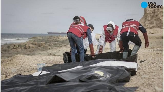 Dozens of bodies wash ashore in Libya