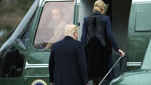 Trump makes unscheduled trip to honor fallen Navy SEAL