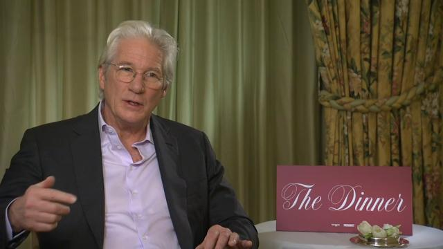 """Richard Gere says President Donald Trump is """"like a game show person"""" with """"no center."""" Speaking in Berlin, Gere also said that some Americans look to German Chancellor Angela Merkel as """"the voice of reason."""" (Feb. 10)"""