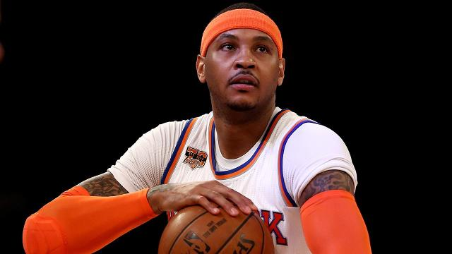 New York Knicks star Carmelo Anthony will replace injured Cleveland Cavaliers forward Kevin Love in the 2017 All-Star Game, according to ESPN's Marc Stein.