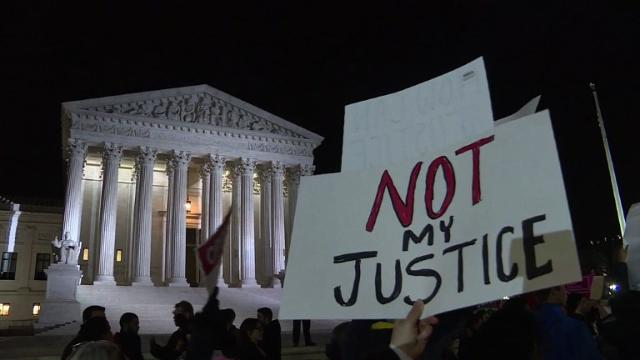 Protests erupt over Trump's conservative Supreme Court pick