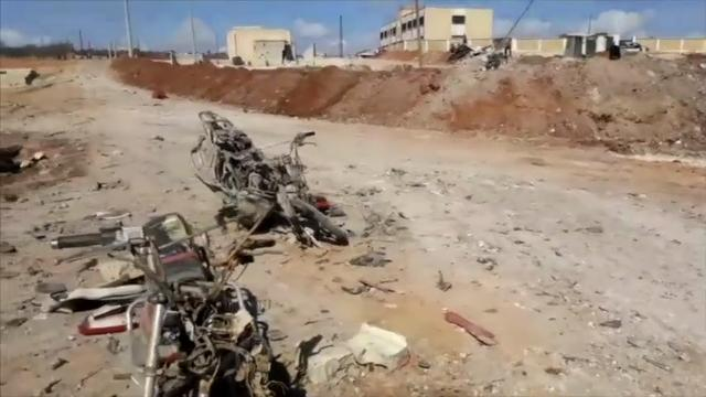 Raw: Aftermath of Deadly Syria Car Bomb