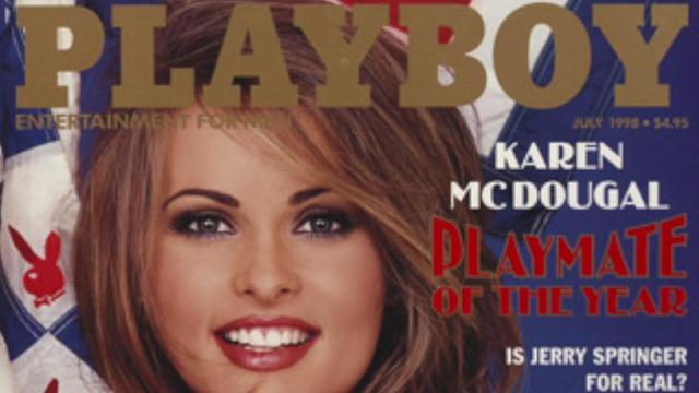Former Playmate of the Year Karen McDougal had her breast implants removed after some scary health problems. Veuer's Nick Cardona (@nickcardona93) has the story.