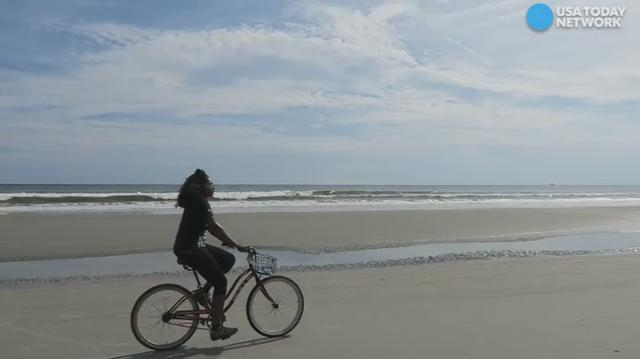 When the tide is low, you can take a bike ride along the shoreline of Sunset Beach, North Carolina. Dayvee Sutton shares that this beach also has a secret which draws visitors from around the world.