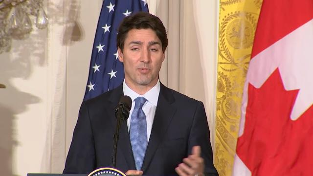 Trump, Trudeau offer divergent views on borders