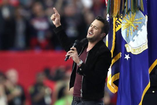 Luke Bryan sings national anthem at Super Bowl