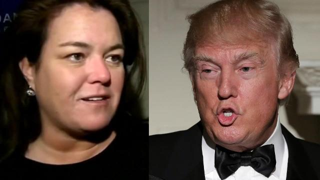 Rosie O'Donnell leading anti-Trump rally