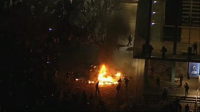 Raw: Protests erupt at UC Berkeley, Yiannopoulos speech canceled