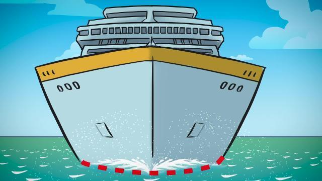 How do cruise ships float?