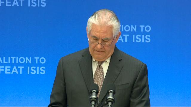 Tillerson: Defeating IS Top US Priority