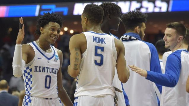 North Carolina, Kentucky set up Elite Eight rematch