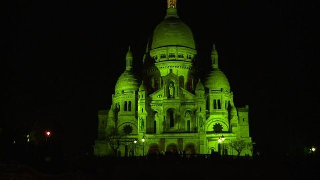 Paris turns green for St. Patrick's day celebrations