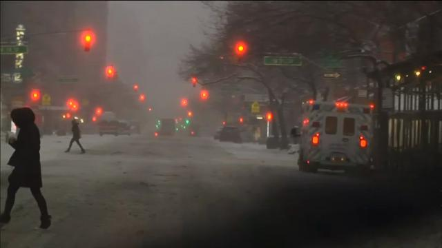 New Yorkers awoke to snow-covered city