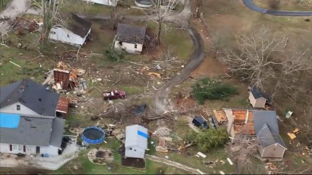 High Wind Damages Homes In Kentucky