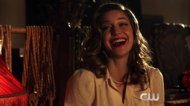 Flash (Grant Gustin) and Supergirl (Melissa Benoist) are thrown into a Hollywood musical and sing the tune 'Super Friends' — written by Rachel Bloom — in an exclusive clip from Tuesday's 'The Flash.'