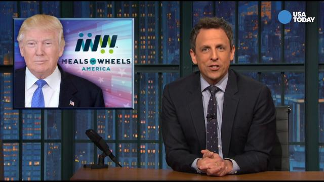 The late-night comics wonder what kind of president wants to eliminate Meals on Wheels. Take a look at our favorite jokes from last night's late-night lineup, then vote for yours at opinion.usatoday.com.
