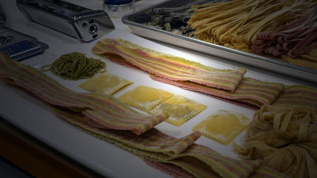 Marcato is an Italian company that makes all kinds of tools for fresh pasta—including a 'ravioli tablet' that makes perfect squares of ravioli.