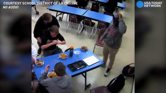 Watch freshman save choking friend with Heimlich
