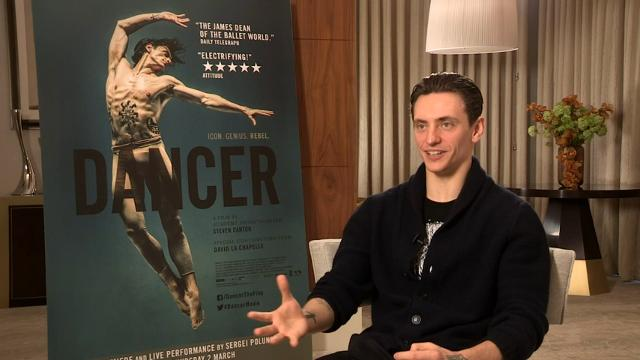 Ballet star Sergei Polunin talks about using David Beckham as a role model and learning to act opposite Jennifer Lawrence and Johnny Depp. (March 1)