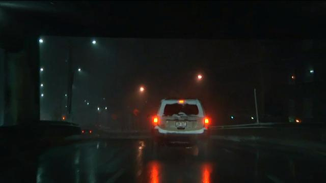 Raw: Snow falling in New York, two feet possible
