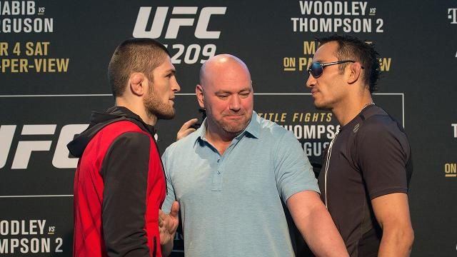 Khabib Nurmagomedov was hospitalized cutting weight, scrapping his fight against Tony Ferguson for the interim lightweight title at UFC 209.