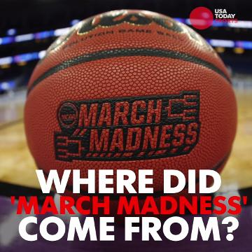 Veteran broadcaster Brent Musburger explains how he coined the phrase 'March Madness'.