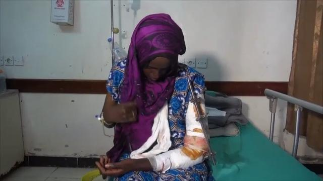 Survivors of Friday's attack on a boat that was transporting Somali refugees off the coast of Yemen have been receiving treatment in a hospital Hodeidah. (March 20)
