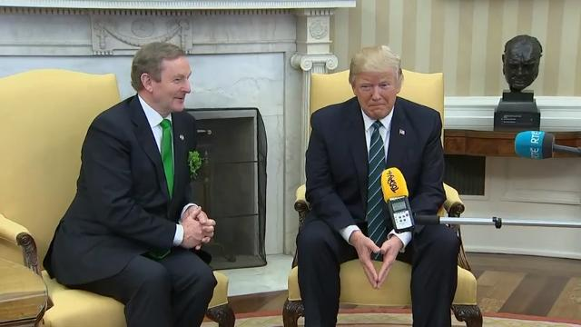 Trump Greets Irish Leader at White House