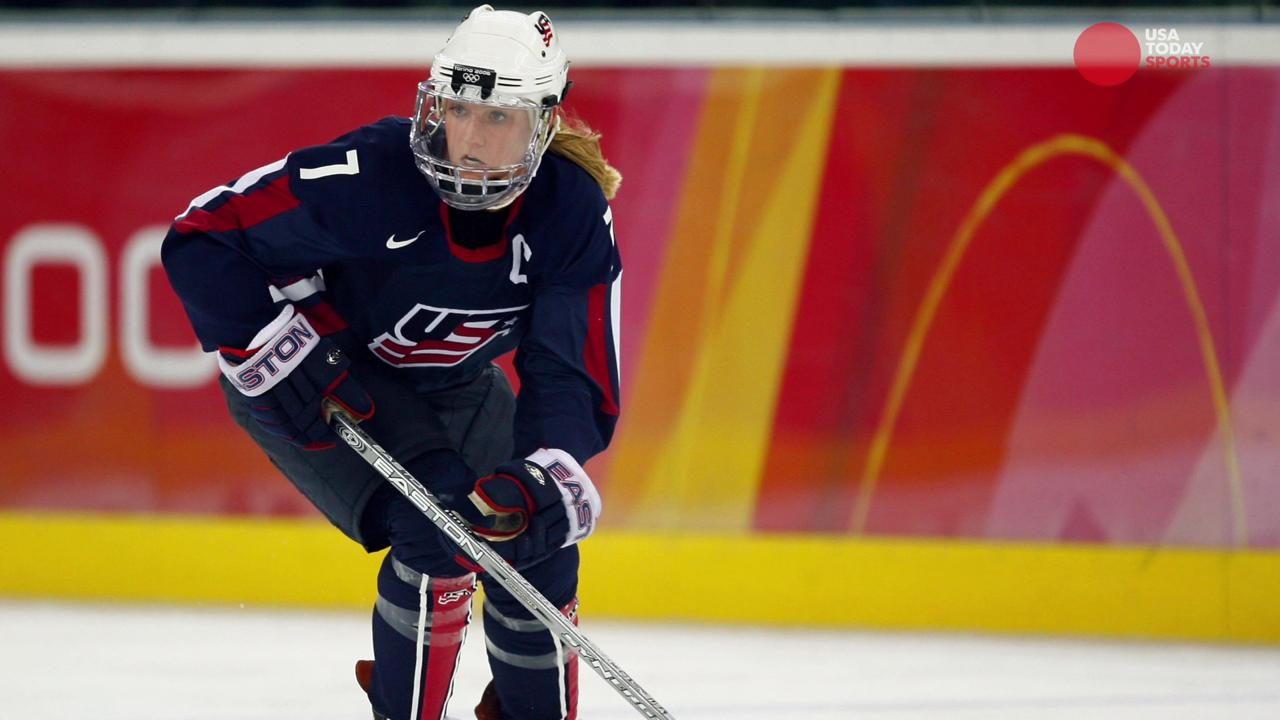 The U.S. women's hockey team is receiving support from