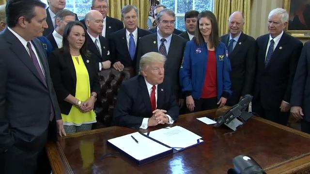 Trump: NASA Bill 'Supports Pursuit of Discovery'