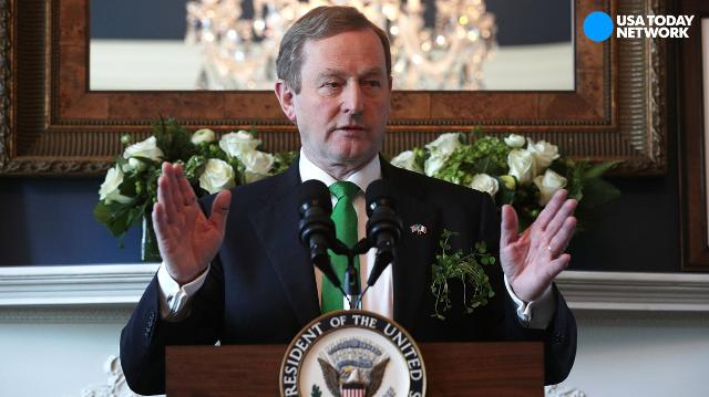 Irish PM gives strong immigration message next to Trump